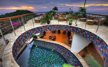 Nick Troubetzkoy's Anse Chastanet and Jade Mountain  St Lucia tiled interior pool