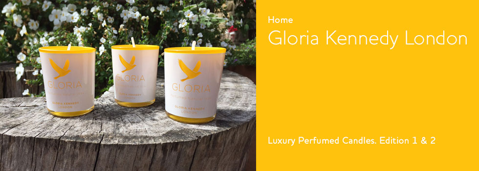 Gloria Kennedy London. Perfumed Candles Editions 1 & 2