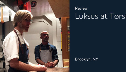 Brooklyn restaurant michelin star Luksus at Tørst